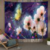 White Flowers and Butterflies Digital Printing Tapestry - MULTI-A