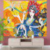 Crane and Opera Girl Background Tapestry Digital Printing - MULTI-A