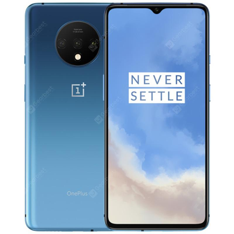 Oneplus 7T 4G Phablet 6.55 inch Oxygen OS Based Android 10 Snapdragon 855 Plus Octa Core 8GB RAM 256GB ROM 3800mAh Battery International Version - Blue Gray