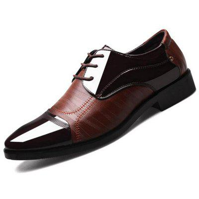 Men's Business Dress Shoes Pointed Toe Footwear Fashion Stitching