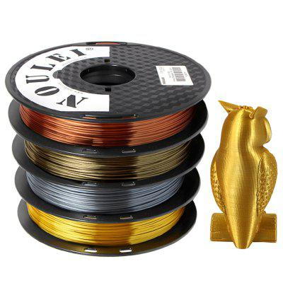 Noulei 3D Printer PLA Filament Silk 1.75mm 500g Spool Dimensional Accuracy +/- 0.02mm 4pcs