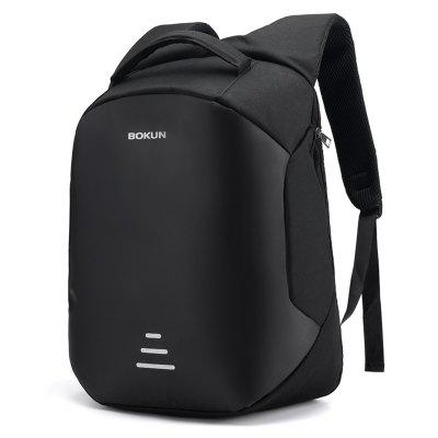 Men's Multi-functional Anti-theft Travel Backpack 15.6 inch Computer Bag Safe Reflective Letters Printed Pack with USB Charging Interface