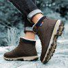 AILADUN Men's High-top Outdoor Plus Velvet Short Boots Slip Resistant Keep Warm Shoes - BROWN