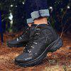 AILADUN Men's Casual Waterproof Outdoor Short Boots Durable Sports Hiking Shoes - BLACK