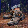 AILADUN Men's Casual Waterproof Outdoor Short Boots Durable Sports Hiking Shoes - BROWN