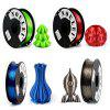 Noulei 3D Printer PLA Filament Silk 1.75mm 500g Spool Dimensional Accuracy +/- 0.02mm 4pcs - MULTI-B