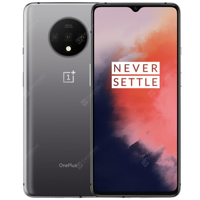 Oneplus 7T 4G Phablet 6.55 inch Oxygen OS Based Android 10 Snapdragon 855 Plus Octa Core 8GB RAM 256GB ROM 3800mAh Battery International Version - Silver