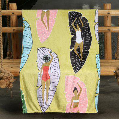 Abstract Painting Pattern Double-sided Flannel Home Nap Warm Blanket