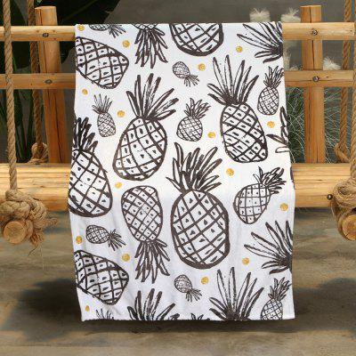 Ink Pineapple Pattern Oboustranná flanel Home Nap teplé deky