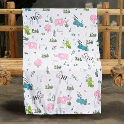 Cartoon Little Animal Pattern Double-sided Flannel Home Nap Warm Blanket