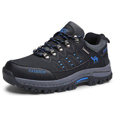 Men Study Outdoor Snow Sneaker Durable Warm Non-slip Sports Shoes Lace Up