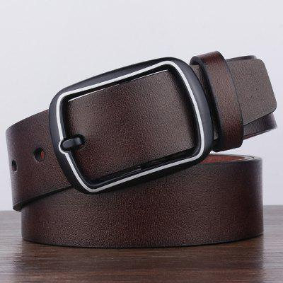 Bărbați retro Antique Finish Pin cataramei Wide Curele de stil simplu de afaceri