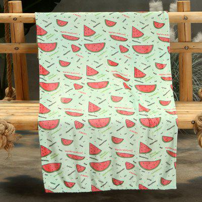 Watermelon Pattern Double-sided Flannel Home Nap Warm Blanket