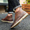 AILADUN Men England Microfiber Leather Upper Casual Shoes Pointed Toe Lace-up Slip Resistant Boots - LIGHT BROWN