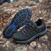 Men Study Outdoor Snow Sneaker Durable Warm Non-slip Sports Shoes Lace Up - BLUE