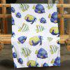 Fish Flannel Pattern Double-sided Flannel Home Nap Warm Blanket - MULTI
