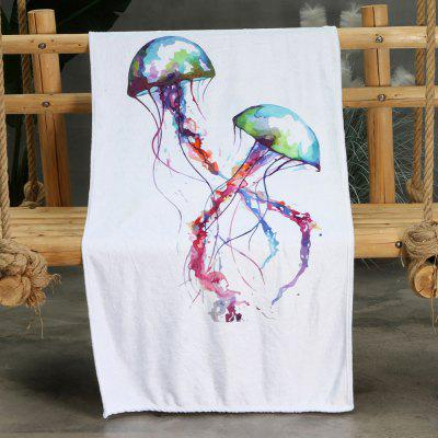 Cross Jellyfish Pattern Double-sided Flannel Home Nap Warm Blanket