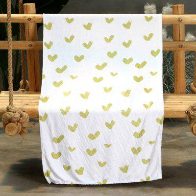Love Pattern Double-sided Flannel Home Nap Warm Blanket