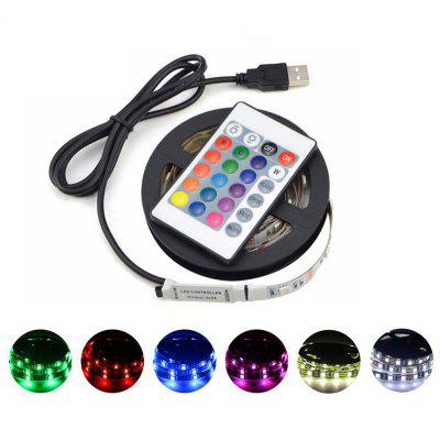 SL-306 5M USB opladen 5V RGB Waterdicht LED Strip Light met afstandsbediening voor Living Room Office