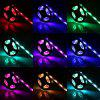 SL-306 5M USB Charging 5V RGB Waterproof LED Strip Light with Remote Control for Living Room Office - BLACK