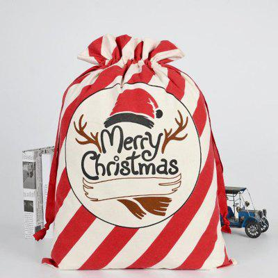 Christmas Decoration Bag Cotton Canvas Elk Gift Candy Bags