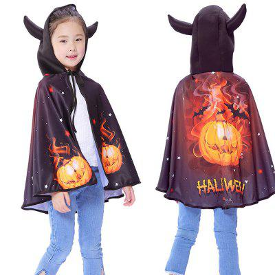 Halloween Decoration Child Horn Squash Witch Cape Cloak