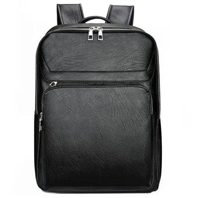 Men's Lightweight Stylish Backpack City Business Concise Bag Solid Color