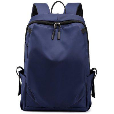 Man Casual Fashion Easy-match Backpack Concise Style Large Capacity Bag