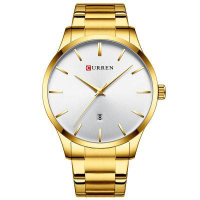 Curren 8357 Mannen Minimalist Big Dial horloge waterdicht Calendar Quartz Horloge Stainless Steel Band