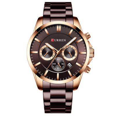 Drie-eye Zespinsjumper horloge waterdicht Calendar Curren 8358 Men's Business Quartz Horloge