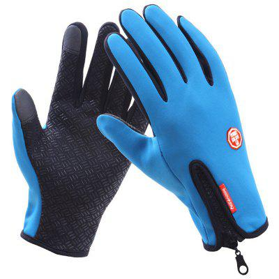 Reißverschluss Plus Samt Touchscreen Handschuhe Männlich Winter Warm Wasserdichte Rutschfeste Outdoor Reiten Voller Finger Damen Sport Ski LS1477