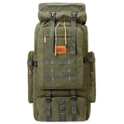Man Canvas Fashion Outdoor Backpack Durable Mountaineering Bag 36L Large Capacity