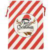 Christmas Decoration Bag Cotton Canvas Elk Gift Candy Bags - MULTI-A