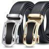 Men's Double Edging Coverage Durable Belt Automatic Buckle Waistband Fashion - GOLD