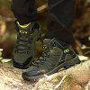 Large Size Men's Autumn And Winter High-top Hiking Boots -8017 Million Rounds - DARK FOREST GREEN