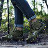 Men's Outdoor Hiking Slip Resistant Boots Lace-up Wearable Shoes - MEDIUM SEA GREEN