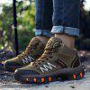 Men's Outdoor Hiking Slip Resistant Boots Lace-up Wearable Shoes - COFFEE