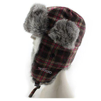 Men Furry Warm Earmuff Hat Thick Winter Outdoors Cap
