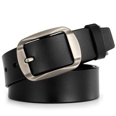 Męska Skóra Pin Buckle Belt Pas Casual Retro