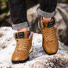 AILADUN Men Outdoor Mid-high Sports Boots Casual Lace-up Shoes Fashion Stitching Outsole - BROWN