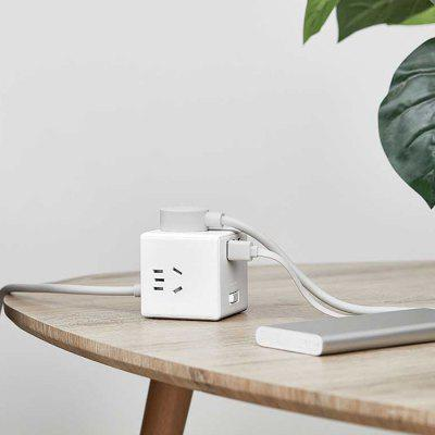 Xiaomi Mijia Small Cube Shape Socket Power Converter Adapter Charger with 3 USB Ports for Fast Charging