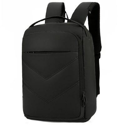 Masculin Business Backpack USB multifuncțională simplă Computer Bag material impermeabil