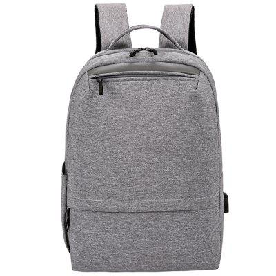 Men's Fashion Backpack School Bags Simple Solid Color