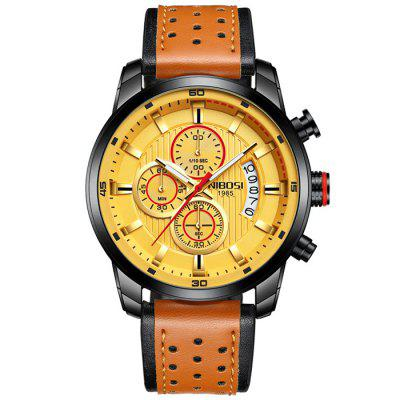 Nibosi Casual 30m waterdicht Luminous quartz horloge Multifunctionele Horloge