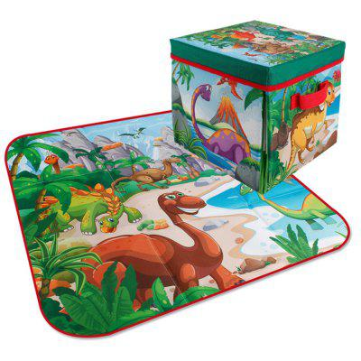 119 2-in-1 Dinosaur Scene Carpet Storage Box with 6 Random Dinosaurs