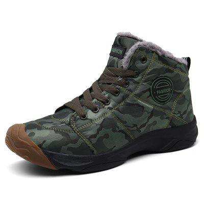 AILADUN Men's Outdoor Sports Boots Fashion Camouflage Warm Shoes Anti-collision Toe