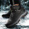 AILADUN Men's Outdoor Sports Boots Plus Velvet Durable Hiking Shoes - BLACK
