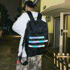 Men 8L Backpack with Safe Reflective Strap Comfortable Breathable Bag - GRAY GOOSE