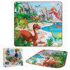 119 2-in-1 Dinosaur Scene Carpet Storage Box so 6 Náhodné dinosaurov - JUNGLE GREEN