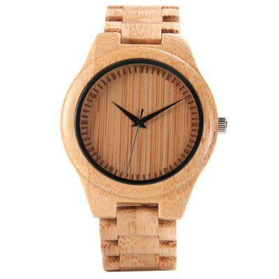 Unisex Environmental Bamboo Quartz horloges Fashion Creative Minimalist Dial Ontwerp